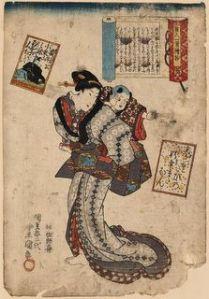 Porteo en el arte japonés