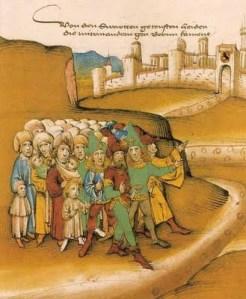 Porteo en la Edad Media