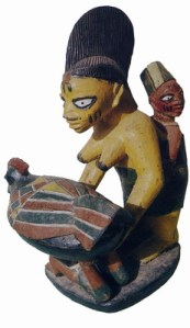 Porteo en el arte africano